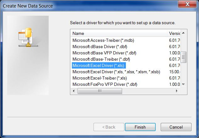 how to connect excel odbc
