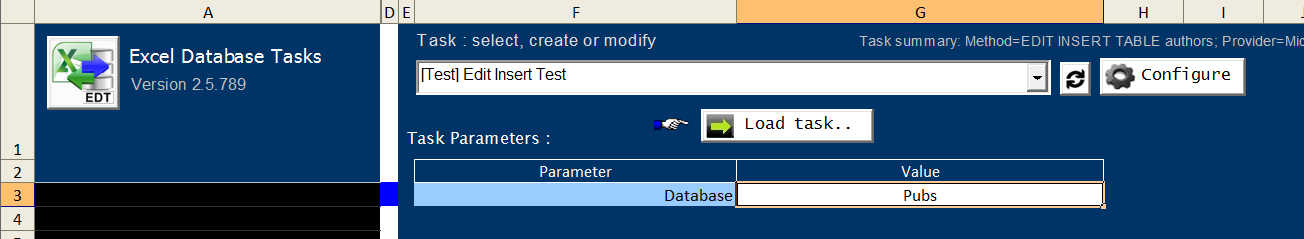 how to change the parameter value in excel