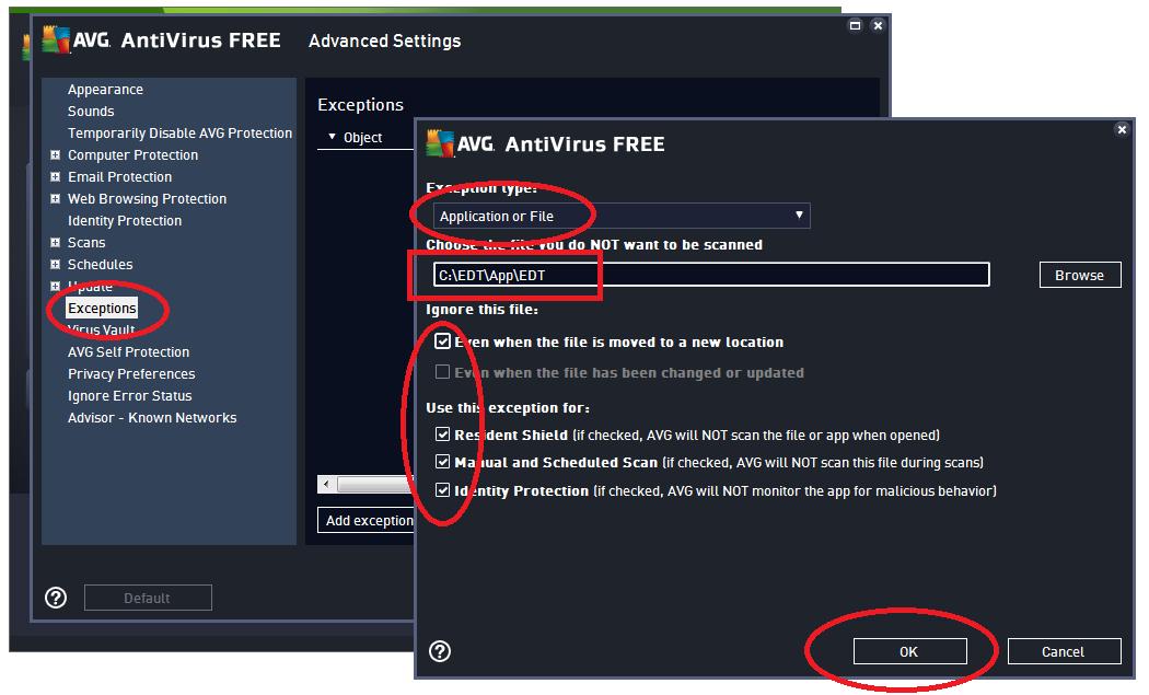Free download Allow Program Through Avg programs - managernode