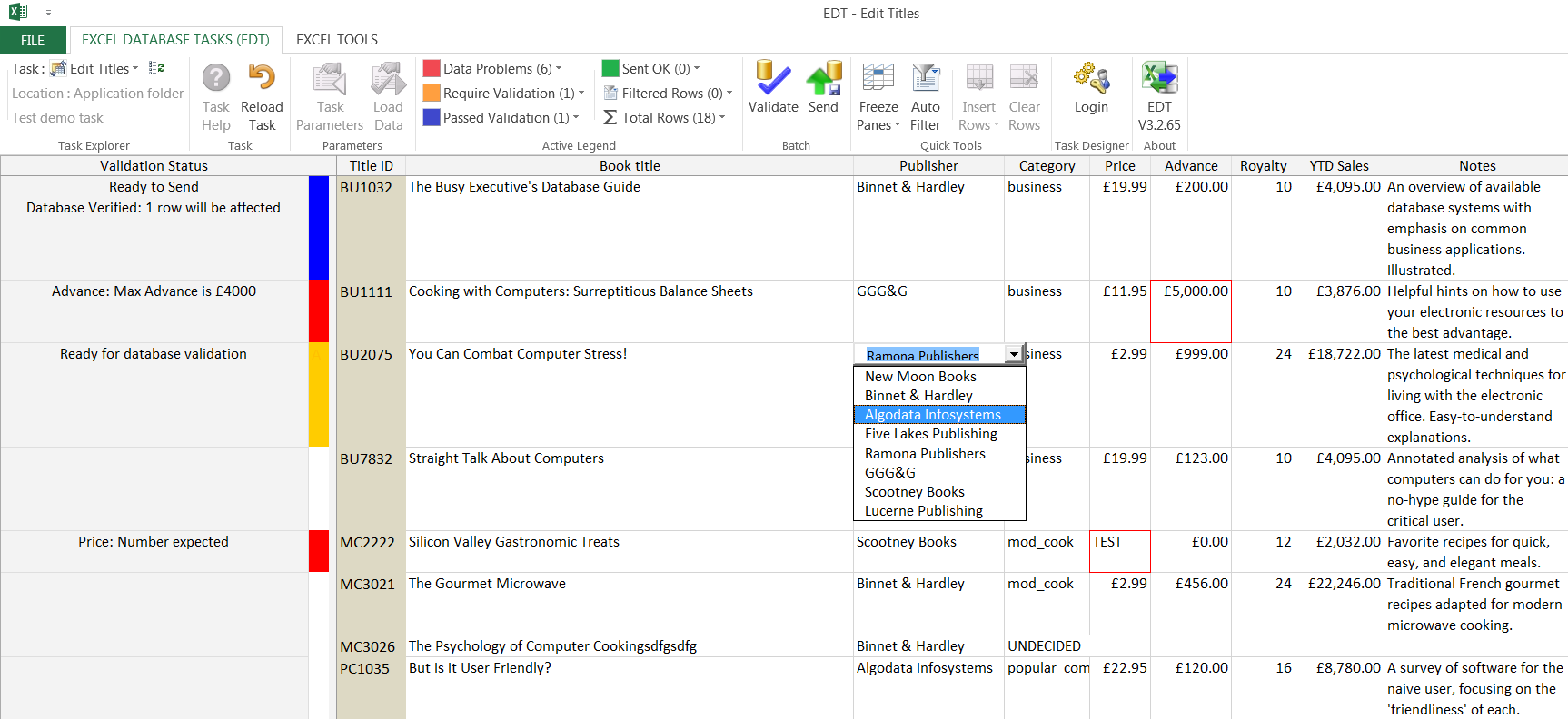 Excel Database Tasks (EDT) : Excel DB Integration software tool ...