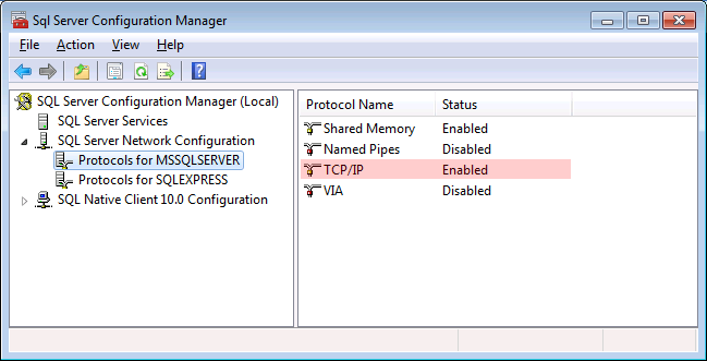 Connect to the sql server 2008 express remotely life on network.